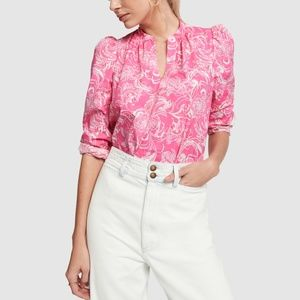 NWT Lilly Pulitzer Goop Paltrow Blouse, Hotty Pink